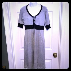 Converse gray jersey lace up front dress